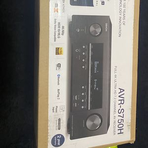 Denon AVR-X1600H 4K UHD AV Receiver | 2019 Model | 7.2 Channel, 80W Each | 3D Audio | New Dolby Atmos Height Virtualization | 6 HDMI Inputs and 1 Outp for Sale in East Brunswick, NJ