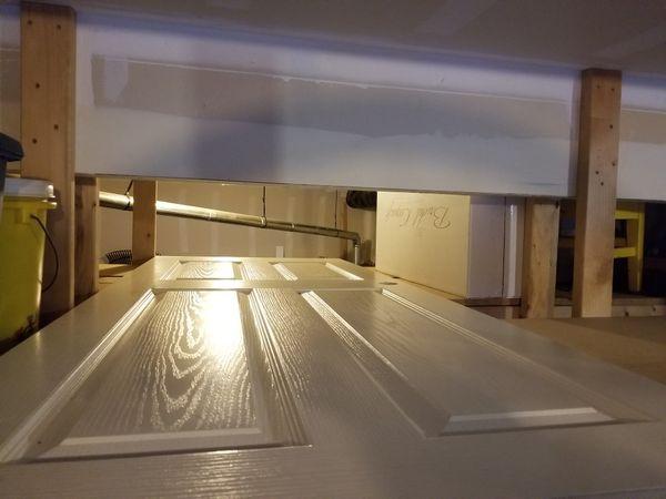 """32"""" 4 Panel White Prehung Door"""
