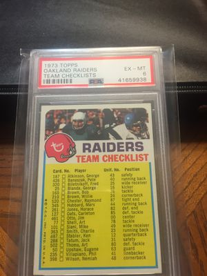Baseball cards,Football Vintage 1973 Raiders CL $10 for Sale in Harbor City, CA