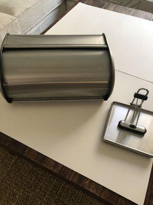 OXO Kitchen Stainless Steel Bread Box & Napkin Holder for Sale in Pembroke Pines, FL