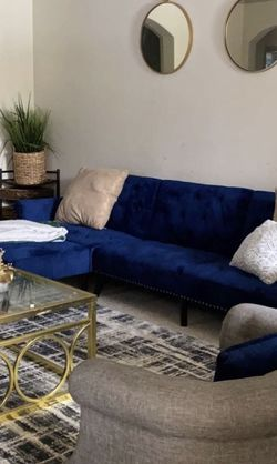 Velvet Blue Couch for Sale in Billerica,  MA