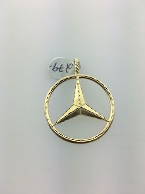 14k Gold Mercedes Benz 1 1/2 inch Charm for Sale in Bridgeport, CT