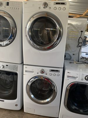 LG front load gas washer and dryer with 3 months warranty free delivery and installation for Sale in Oakland, CA