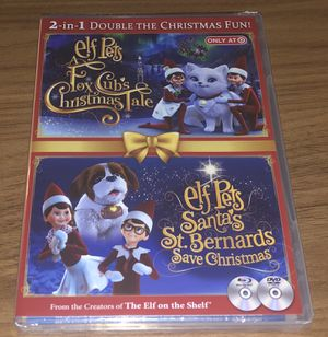 Elf Pets Dvd & Blu ray disk 2 in 1 double the Christmas fun for Sale in Riverside, CA