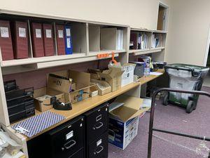 Office furniture desks file cabinets. Free for Sale in Santa Clarita, CA