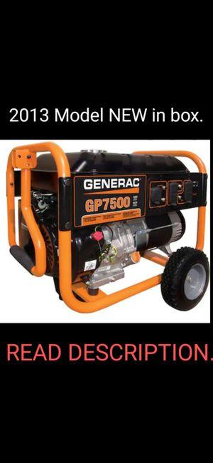 Generac GP7500 Generator BRAND NEW never been run. for Sale in Pemberton, NJ
