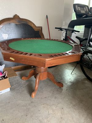 Poker table with cover for Sale in Castroville, TX