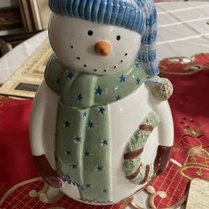 Snowman Cookie Jar for Sale in Middletown, CT