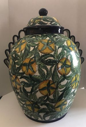 "Hand Painted 21"" Majolica Urn Guanajuato for Sale in Irving, TX"