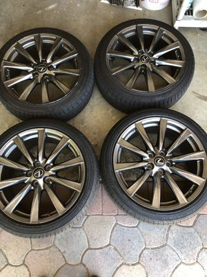 Lexus ISF OEM 19inch Rims with Tires and extras for Sale in Millbrae, CA