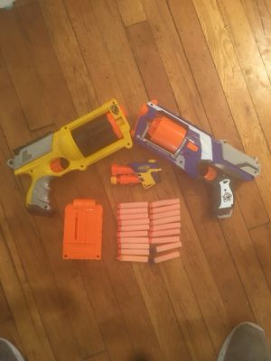 Nerf guns and nerf bullets for Sale in Rockville, MD