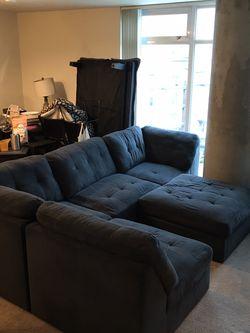 Huge Dark Blue Sectional Sofa for Sale in Bellevue,  WA
