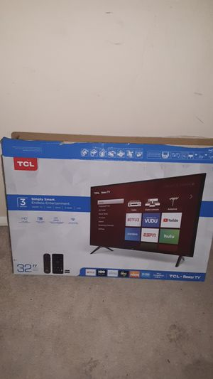 """TCL 32"""" Smart Roku TV for Sale in Cary, NC"""