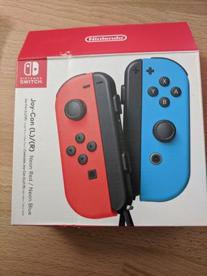 Nintendo Switch Joy-cons (L) / (R) Neon Red / Neon Blue for Sale in La Habra Heights, CA
