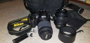 Nikon D3100 DSLR Camera with 2 lenses/bag for Sale in PA, US