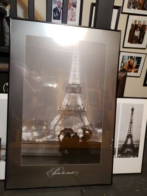 Paris Eiffel Tower at Night Print for Sale in Tinicum Township, PA