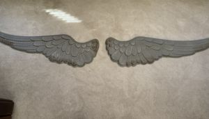 Rustic metal wings wall decor for Sale in Payson, AZ