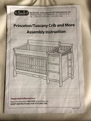 Princeton/Tuscany crib and more by Sorelle for Sale in Yorkville, IL