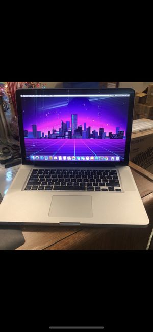 """Best dj macBook i5 15"""" Low battey cycles excellent working condition super fast Large screen speakers on both sides Battery cycles only 302 which for Sale in Modesto, CA"""