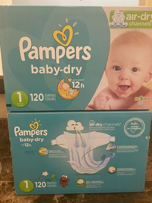 Diapers size 1 pampers 120 count for Sale in Fontana, CA