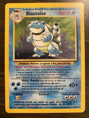 Pokémon Spanish Base Set Blastoise-HOLO for Sale in Leominster, MA