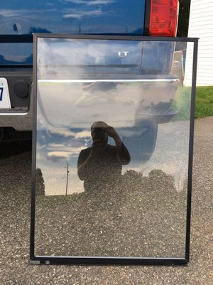 Black storm window with glass missing one latch27 wide 381/4 tall for Sale in Rocky Mount, VA