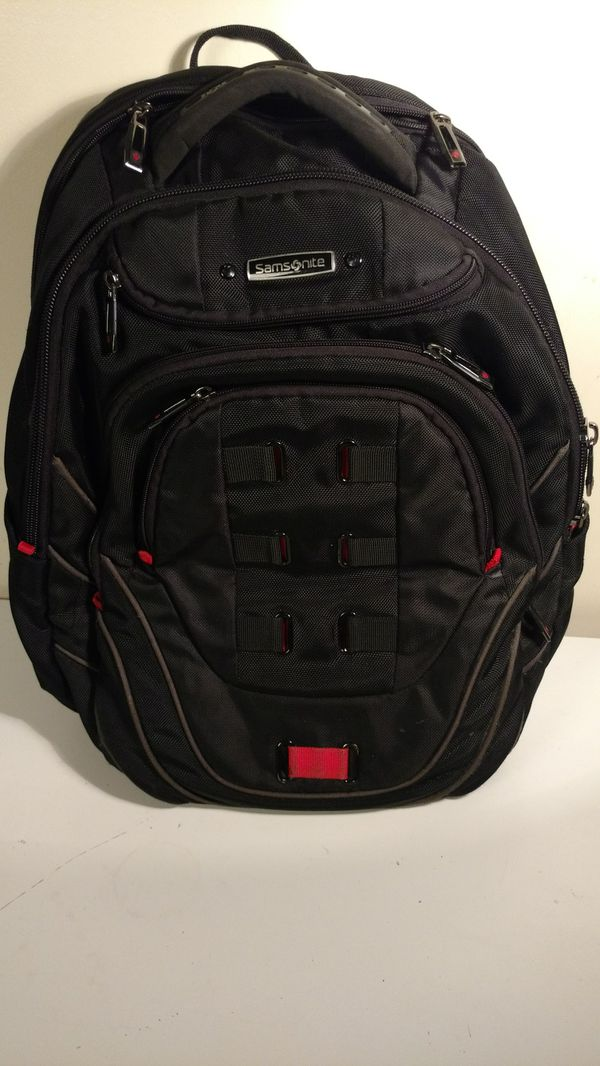 Samsonite black and red technology laptop backpack