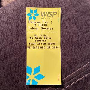 Wisp Resort Snow Tubing 2 Hour Ticket for Sale in Williamsburg, VA