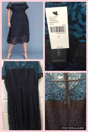 Brand new Lane Bryant Women's Colorblock Lace Midi Dress size 16 (pick up only) Please don't bother giving ridiculous offers. for Sale in Springfield, VA