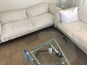 White leather couches from Jerome set for Sale in El Cajon, CA