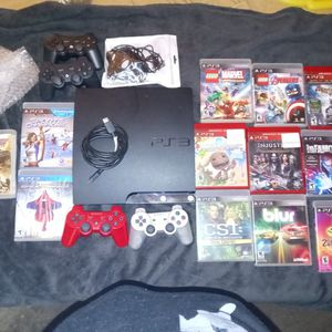PS3 With 4 Wireless Controllers And 12 Games for Sale in Winter Haven, FL