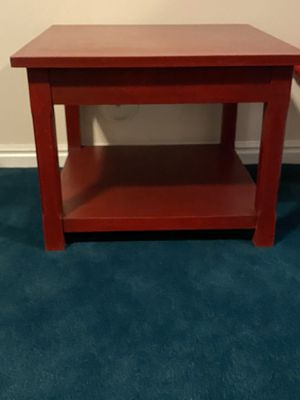Red side table/end table/accent table for Sale in Sandy, UT