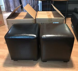 Tracie one brown accent ottoman black one is sold for Sale in Smyrna, TN