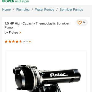 1.5 HP High-Capacity Thermoplastic Sprinkler Pump for Sale in La Puente, CA
