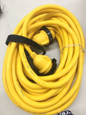 Camco 50' heavy duty RV/marine locking extension cord for Sale in Puyallup, WA
