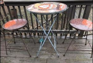 Mosaic tile breakfast table & chairs for Sale in Goodlettsville, TN