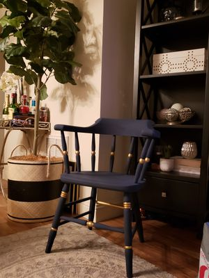Navy & Gold Chair for Sale in Walnut Creek, CA