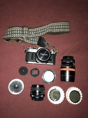 Canon AE-1 Camera w/ Accessories for Sale in Olathe, KS
