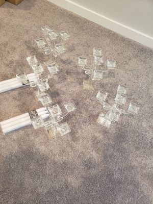 Godinger 5 Arm Crystal Candelabras for Sale in UPPR MARLBORO, MD