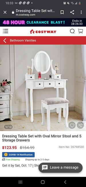 New Makeup Vanity Table Set for Sale in Paramount, CA