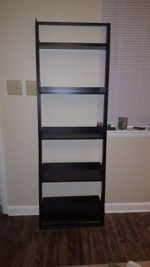 Black leaning ladder shelf crate and barrel for Sale in Sanford, NC