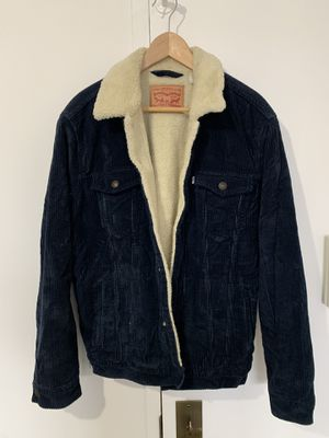 Levi's blue corduroy Sherpa lined jacket Large for Sale in New York, NY