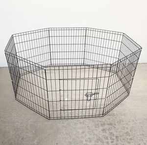 "New in box $30 Foldable 24"" Tall x 24"" Wide x 8-Panel Pet Playpen Dog Crate Metal Fence Exercise Cage for Sale in Pico Rivera, CA"