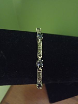"Gorgeous amethyst marcasite and Sterling silver bracelet 7"" for Sale in Washington, PA"