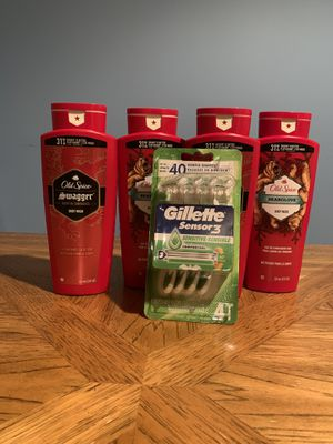 Old spice bodywash & gillette razor for Sale in Harrison, NY