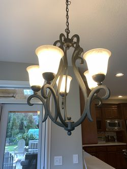Black iron chandelier for Sale in West Linn,  OR
