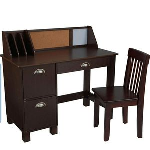 KidKraft Kids Study Desk with Chair-expresso - for Sale in Columbus, OH