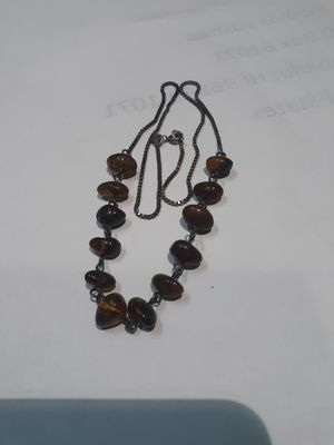 """Vintage sterling silver 20"""" necklace Baltic Amber GDANSK POLAND 925 Silver for Sale in Phoenix, AZ"""