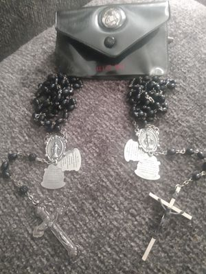 Antique Alter Boy Crucifix black bead chains/ Prayer charm for Sale in Charlotte, NC