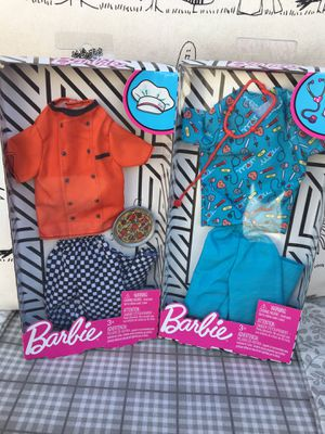 Barbie- Ken Doll Doctor/Nurse, Pizza Chef Fashion 2 Outfits Clothes New In Box! for Sale in Westminster, CA
